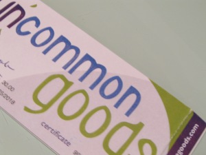UncommonGoods Gift Certificate