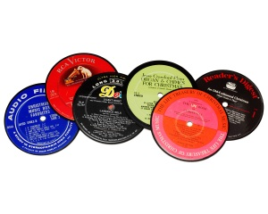 Holiday Record Coasters (set of 6)